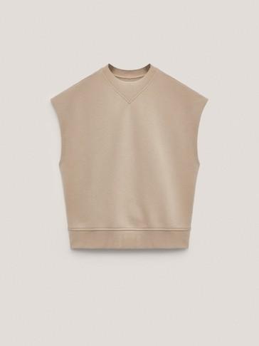Pamučna sweater majica kratkih rukava
