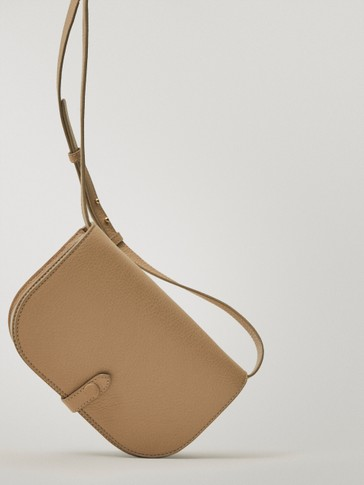 Leather half-moon bag