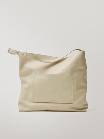 حقيبة للكتف من جلد النابا