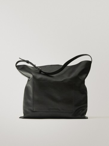 Nappa shoulder bag