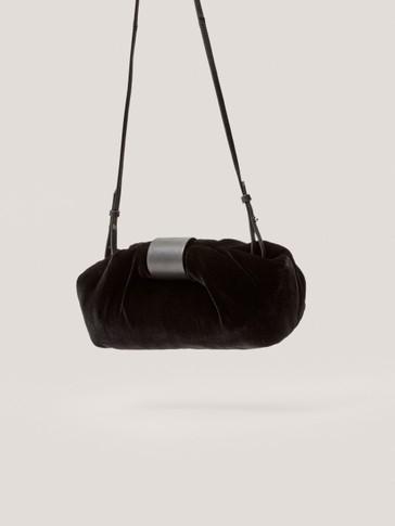 Βελούδινη τσάντα σακίδιο