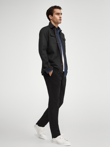 Slim-fit-chinohose aus baumwolle