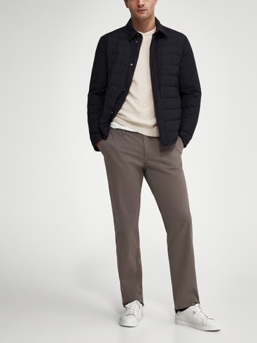 Pantaloni di cotone chino regular fit