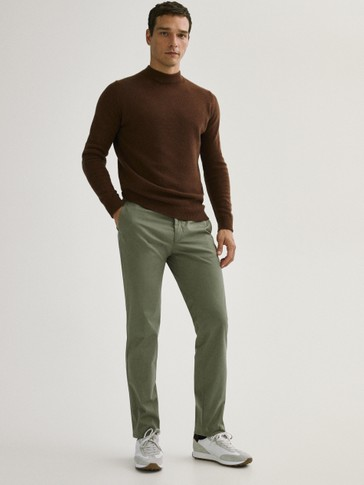 Regular fit cotton chinos