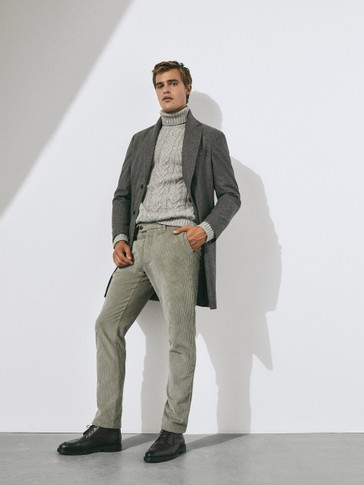 Limited Edition slim fit corduroy chino trousers