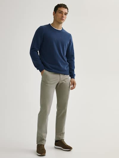 마시모두띠 Massimo Dutti REGULAR FIT CHINOS,BEIGE