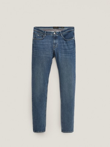 REGULAR FIT STONE WASH JEANS