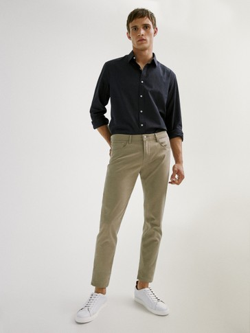 Slim fit broken twill jeans