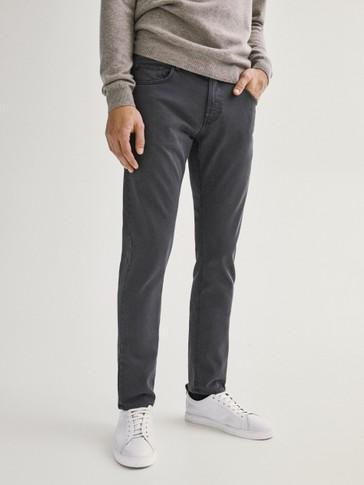 Pantalon type jean slim fit en coton