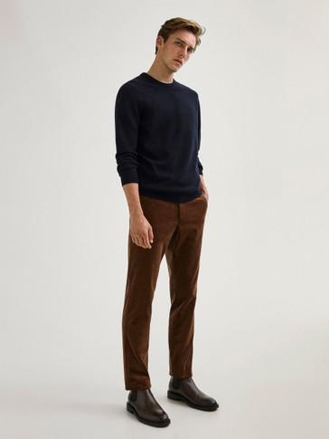 Pantalon habillé en velours côtelé