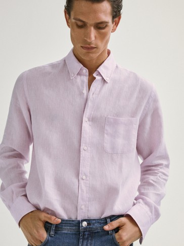CAMISA 100% LINO LISA REGULAR FIT