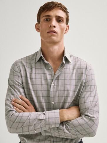 Regular fit 100% cotton check shirt