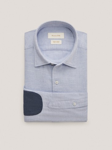 Camisa estructura codera algodón regular fit