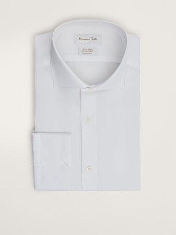 TAILORED FIT PLAIN POPLIN EASY IRON SHIRT