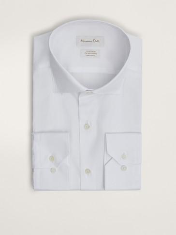 قميص من القطن بنقشة المربعات سهل الكيّ قصة ضيقة