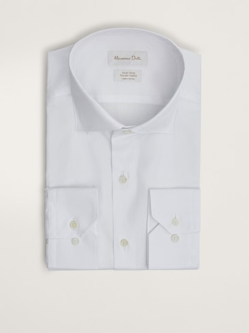 EASY IRON SLIM FIT PLAIN COTTON CHECK SHIRT