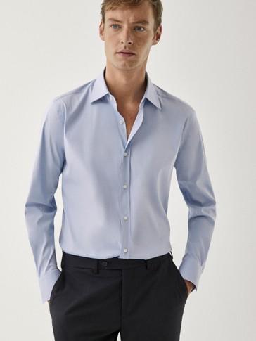 Camicia a tinta unita slim fit