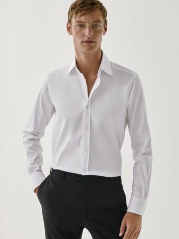 Camicia a tinta unita extra slim fit