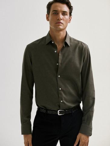 Košulja slim kroja od pamučnog kepera