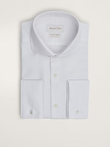 قميص قطن هيكلي سليم فيت