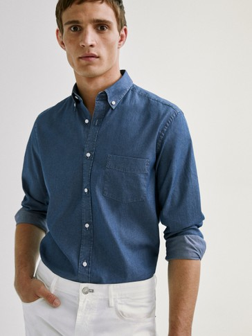 Denim slim fit shirt
