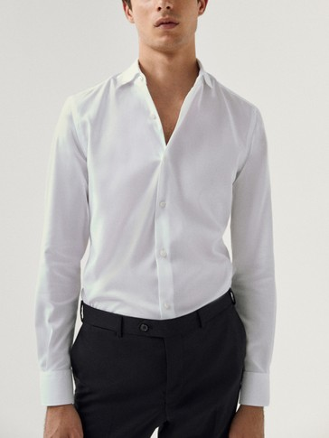 Oxford alkandora, %100 kotoizkoa, slim fit