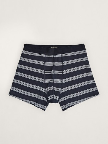 NAVY BLUE STRIPED BOXERS