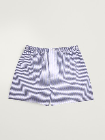 Pinstriped boxers