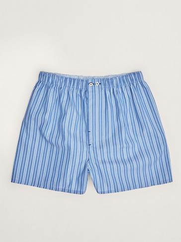 Multi-stripe cotton boxers