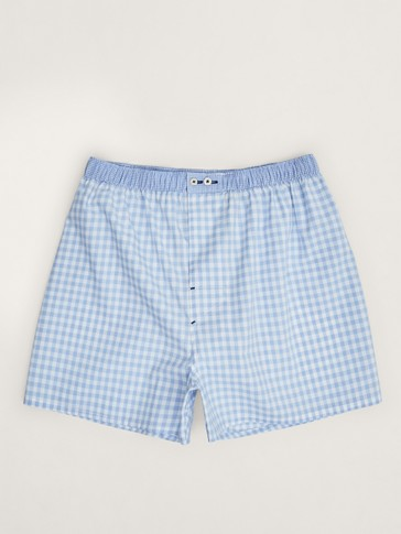 GINGHAM CHECK PRINT BOXERS