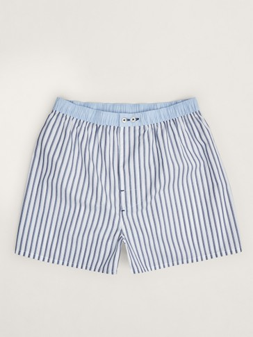 STRIPED COTTON BOXERS