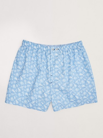 Boxers featuring palm tree print