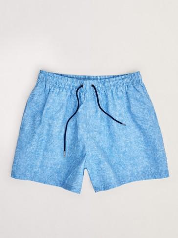 سروال قصير للسباحة مطبع بخطوط رفيعة