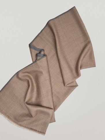Bufanda espiga 100% lana