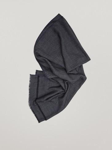 100% wool herringbone scarf
