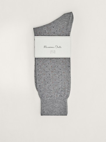Micro polka dot cotton socks