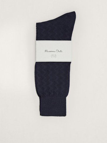 ZIGZAG COTTON SOCKS