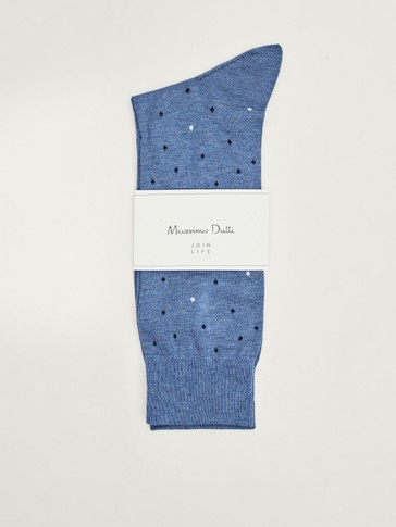 Mercerised cotton polka dot socks
