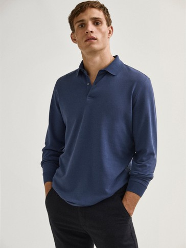 Piqué 100% cotton polo shirt