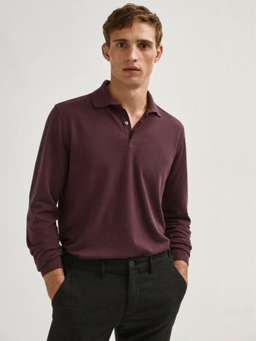 قميص بولو بيكيه من القطن 100%