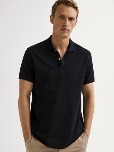 SHORT SLEEVE COTTON POLO SHIRT