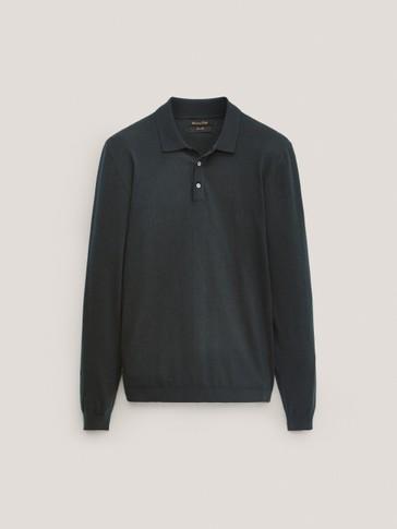 Jersey polo 100% lana merino