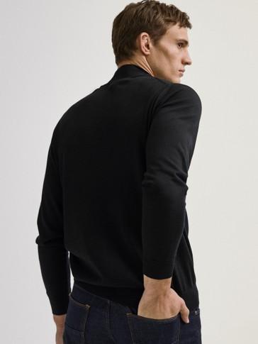 100% merino wool high neck sweater
