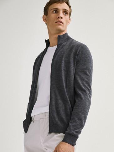 100% merino wool cardigan