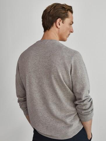 Jersey 100% cashmere cuello redondo