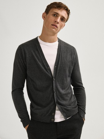 Cotton/silk/cashmere cardigan