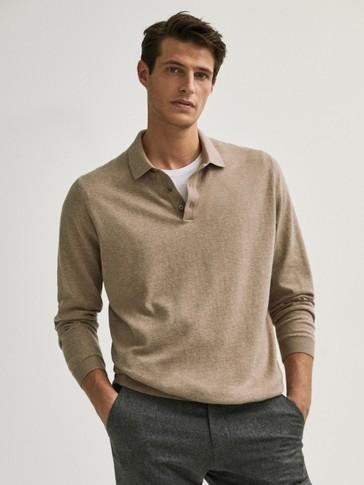 Jersey polo algodón seda