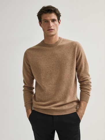 Pulover od vune/kašmira okruglog izreza