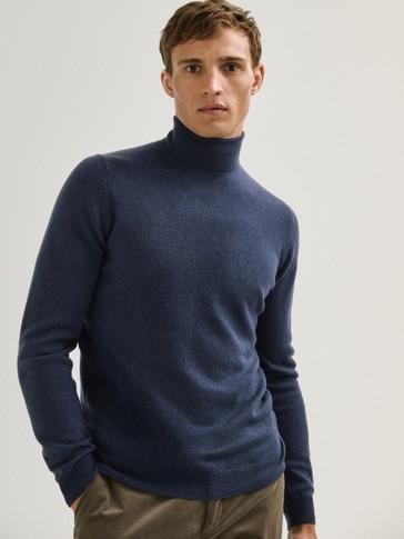 Pulover od mješavine vune i kašmira s visokim ovratnikom
