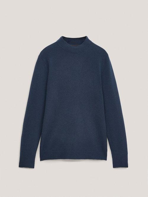 마시모두띠 Massimo Dutti Cashmere wool high-neck sweater,BLUE